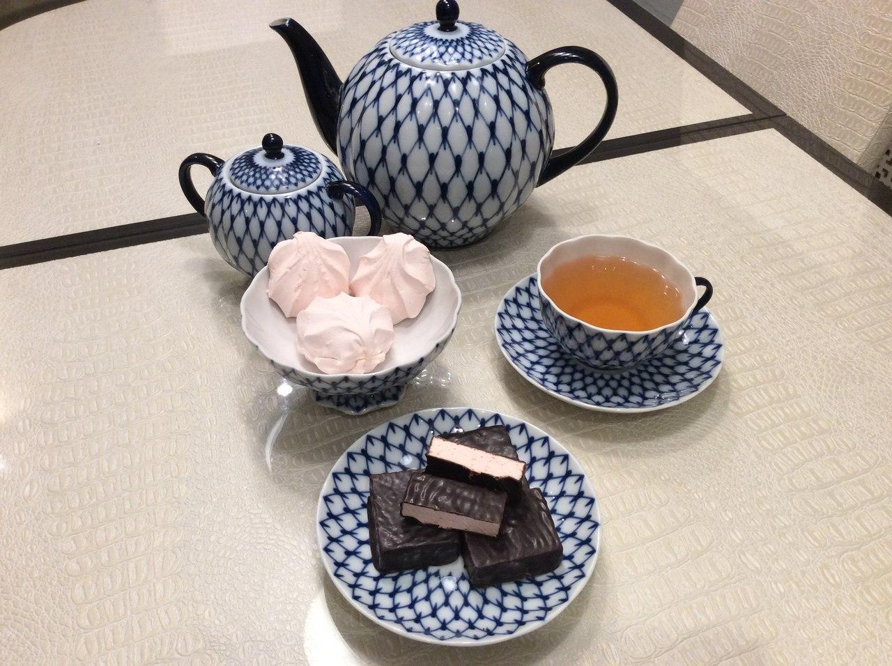 чай с зефиром